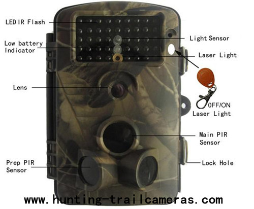 Camouflage Invisible Infrared Trail Camera 940nm With 20 M IR Flash