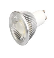 UL, ETL 5W 450lm GU10 COB LED spotlight AC85-265V 38degree