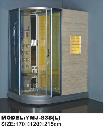 YMJ-838  L sauna room/saunas/steam shower room with CE, ROHS certificates