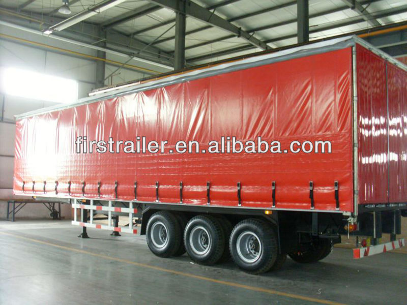 Box semitrailer/curtain sider semitrailer with high performance