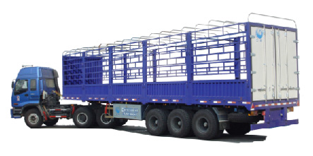 Hot selling stake semitrailer for cargo transport
