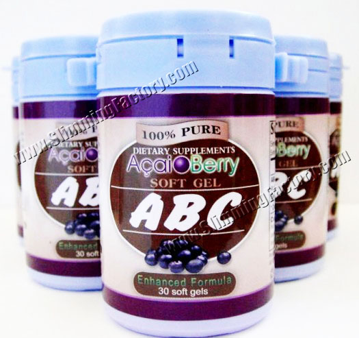 Original ABC Acai Berry Slimming Soft gel, Brown Liquid