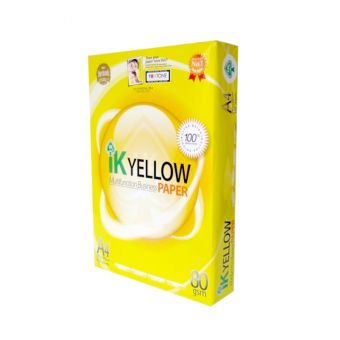 IK Yellow A4 Copy Paper 80gsm/75gsm/70gsm