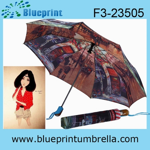 3 Folding heat transfer umbrella