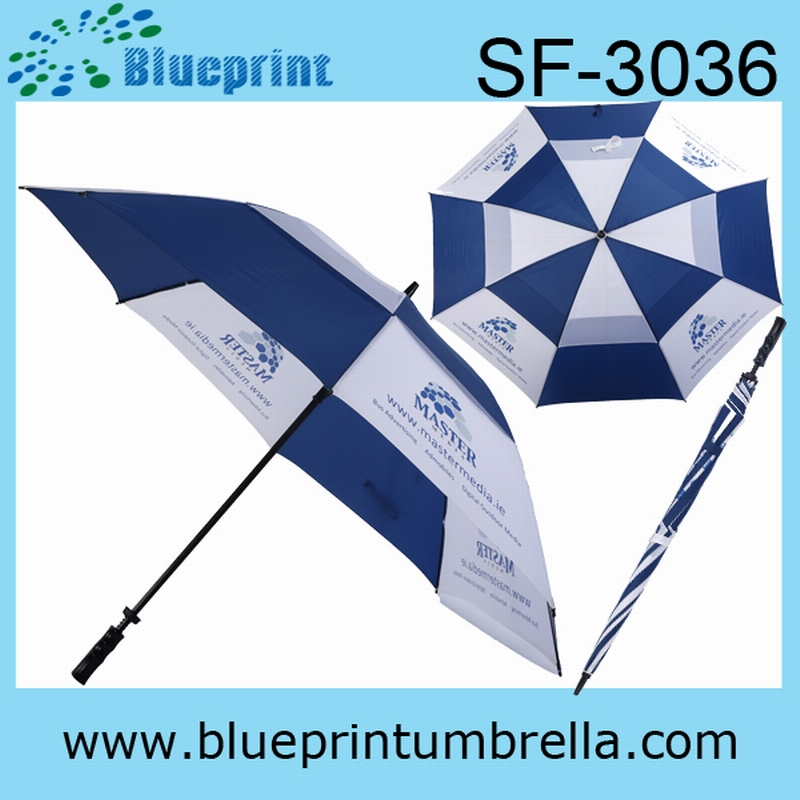 30FiberglassDouble Layer Golf Umbrella Wholesale