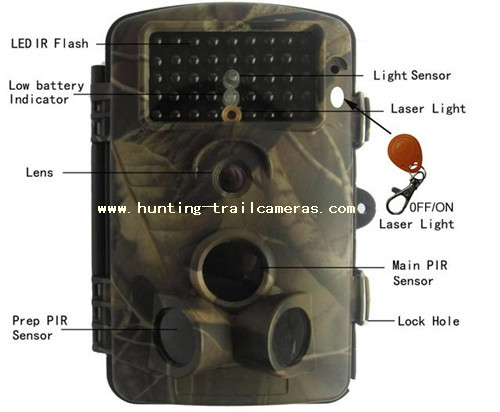 Waterproof IP54 12MP Wireless Hunting Cameras With Invisible Night Vision Funtion