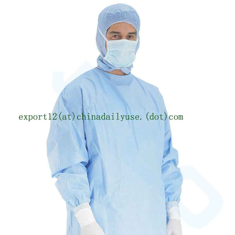 Reinforced sterile non sterile surgical medical gowns