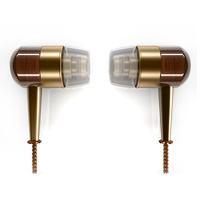 Metal & Stylish wood earphone