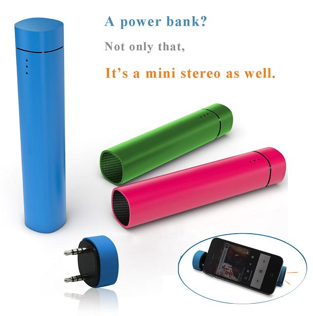 2013 Style Power Bank 4000mAh with Speaker(5061)