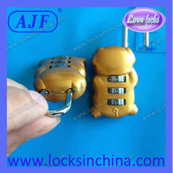 AJF very cute promotional luggage cable pig lock