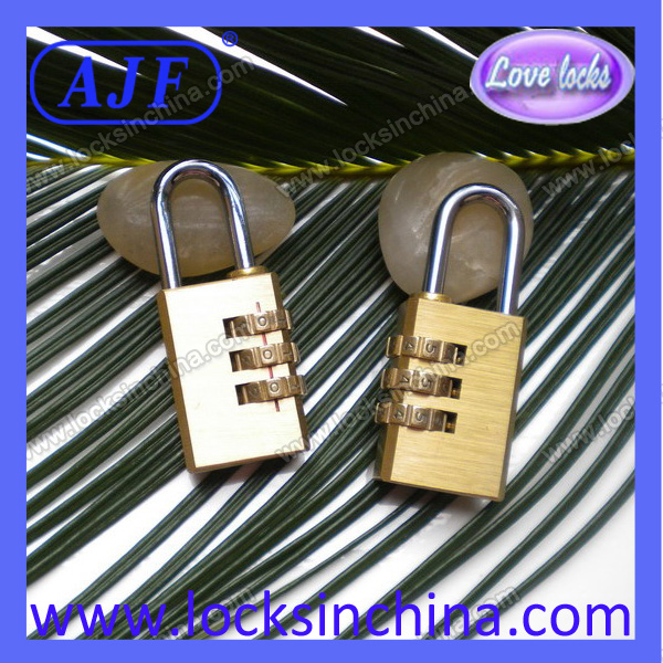 AJF 30mm good quality and high security 3 numbers brass password locks