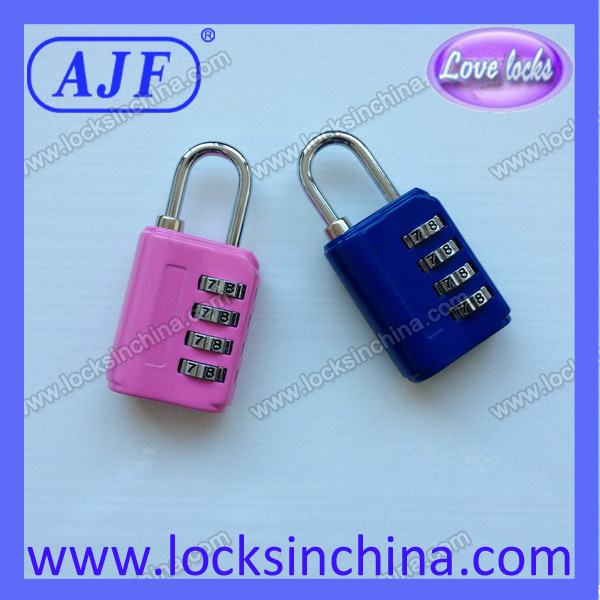AJF corlourful 4 digits popular travel padlocks