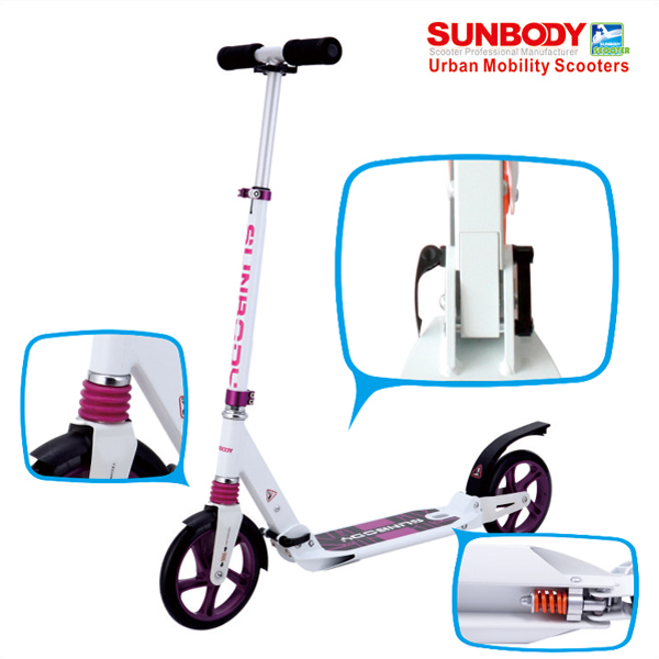 folding kick scooter with suspension for adults