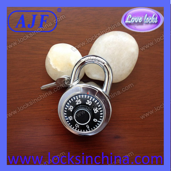 AJF 50mm high quality combination lock with 2 keys