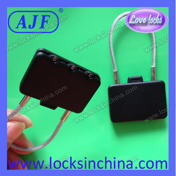 AJF cable luggage locks with 3 digits