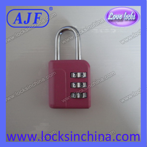 Good quality 3 digits padlock for travel