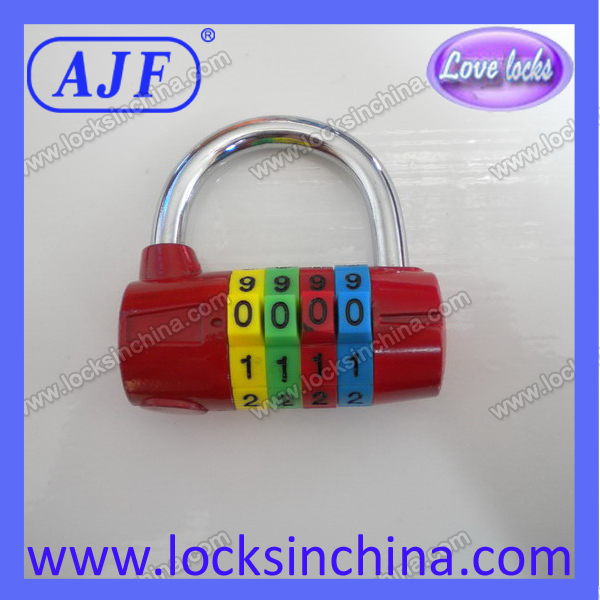 colorful cylinder-shaped secure suitcase padlock