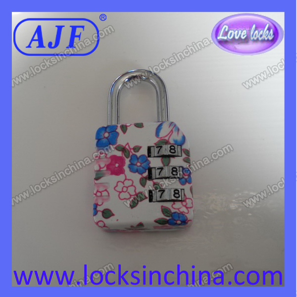 High quality newest cute suitcase printing of the lock