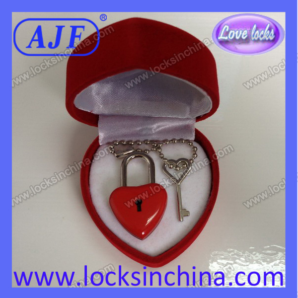 Zinc alloy smallest  Heart Key Lock For diaries
