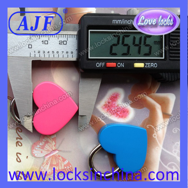 colourful popular heart lock for valentine's day