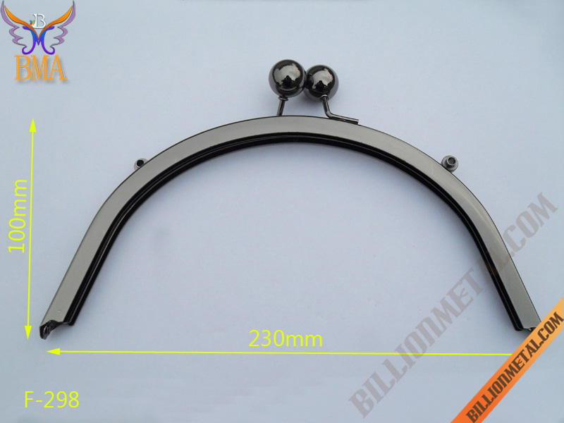 230mm Handbag Gun Metal Purse Frame(F-298)