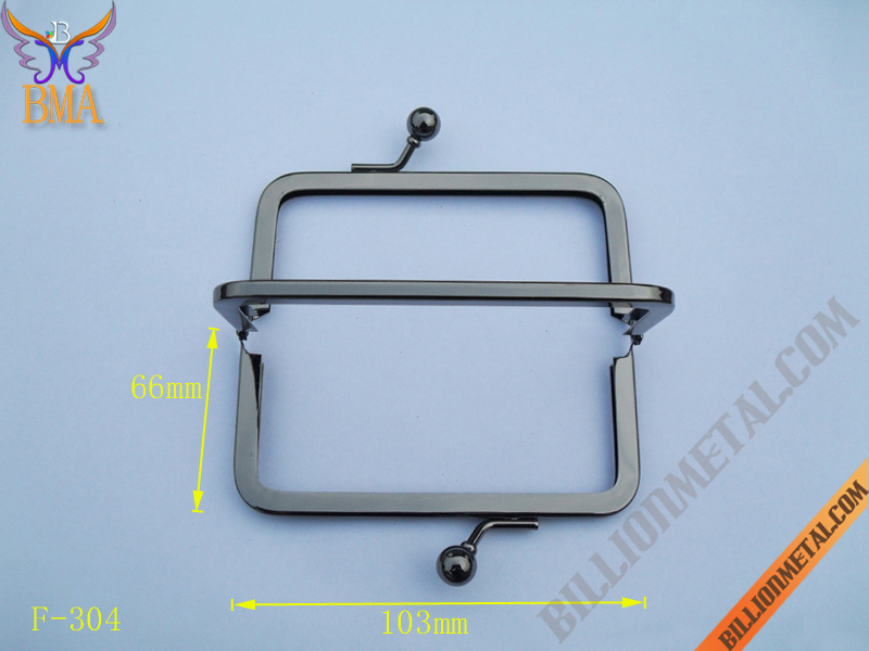 103mm Gun Metal Purse Frame(F-304)