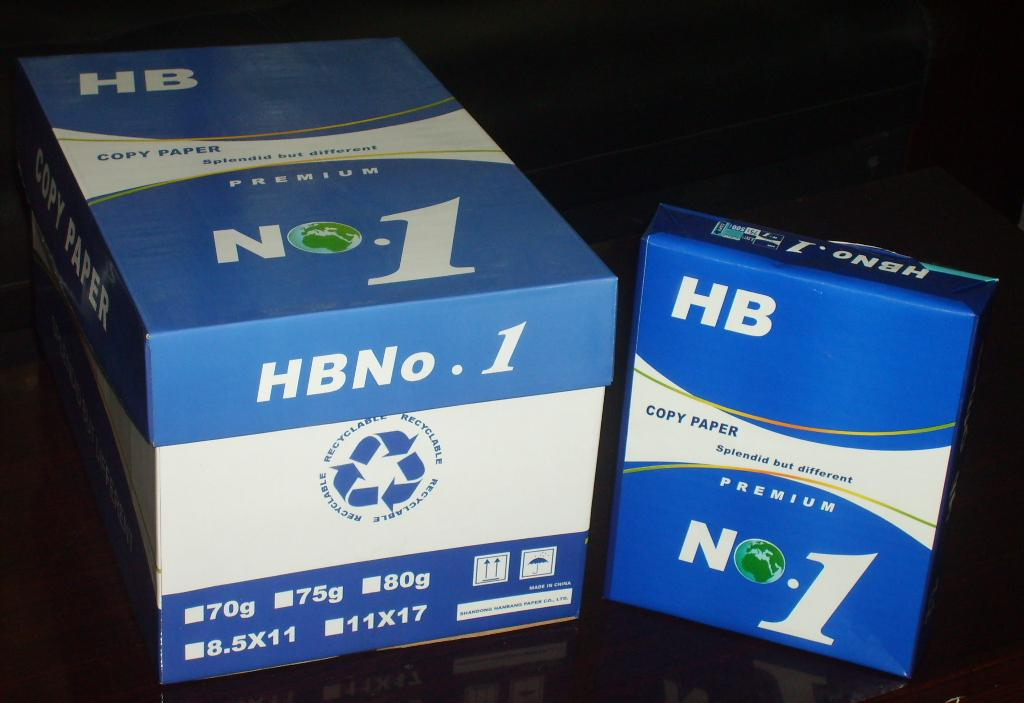 HB No 1 paper Letter Size 8.5*11,75gsm and 80gsm