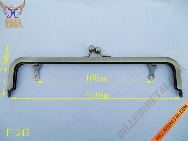 9 inch/240mm Evening Bag Metal Purse Frame(F-345)