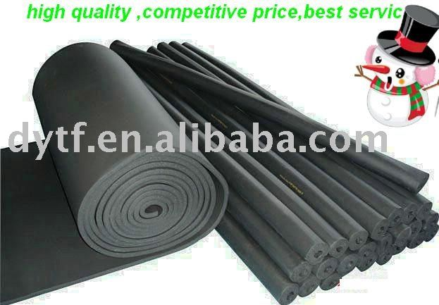 rubber and plastic heated foam pipe& sponge