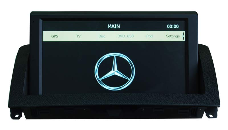 Wholesale - 1 Din Car DVD Player for Mercedes-Benz C-W204 Head Unit Sat Nav with GPS Navigation Radio dvd player