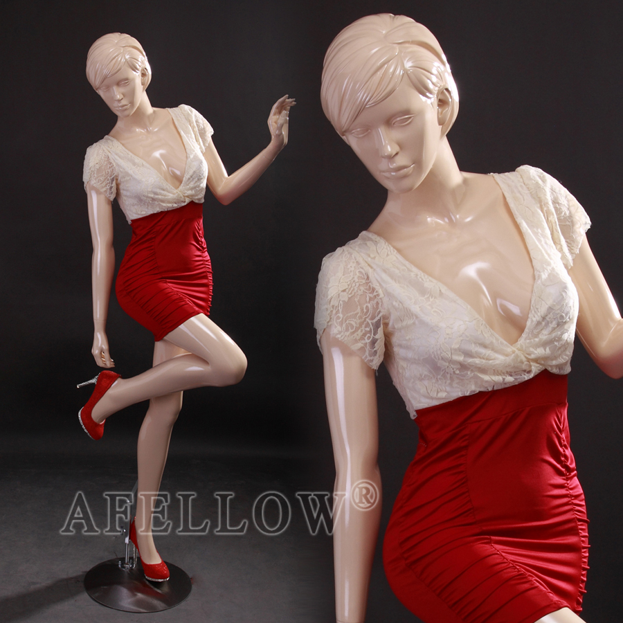 Abstract mannequin sculptured head glossy skin mannequin AFELLOW GK02