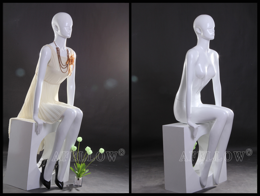 Cheap sitting female mannequin abstract head mannequin AFELLOW AFFS61