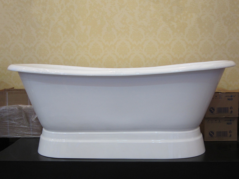 enamel cast iron pedestal bathtubs/pedestal tubs