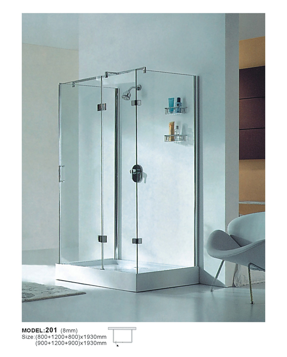 Sanitary Ware Three-Side of Glass Shower Wet Room (201)