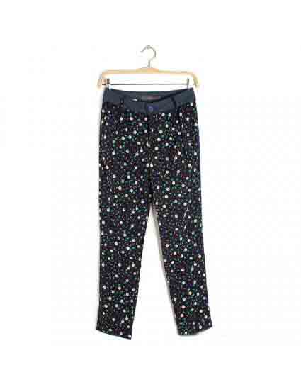 Black Peace Dove Polka Dot Harem Pants