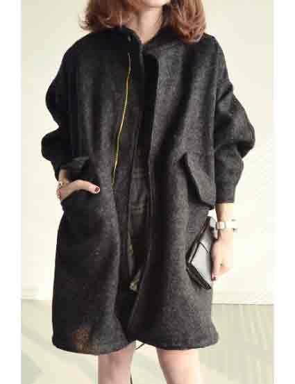 Womens Winter Woolen Coat Fleece Liner