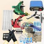 Professional Tattoo 2 Machine Guns Power Supplies Needles equipment Kit
