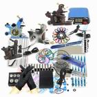 Tattoo Kit Inks 2 Machine Guns Grips Needles Tips Power