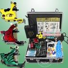 Complete Tattoo Kit Kits 3 Guns Needles Power Needles Equipment Supplies