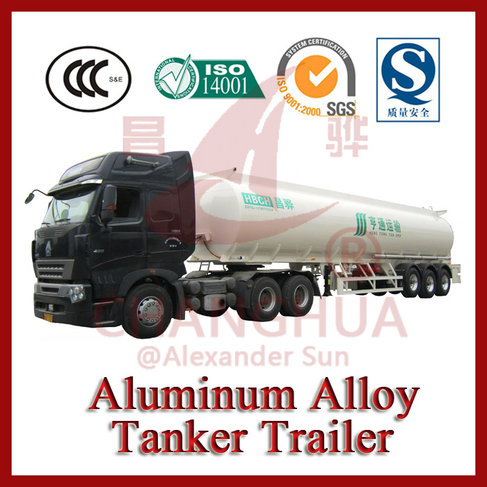 3 Axles Aluminium Tanker Semi Trailer