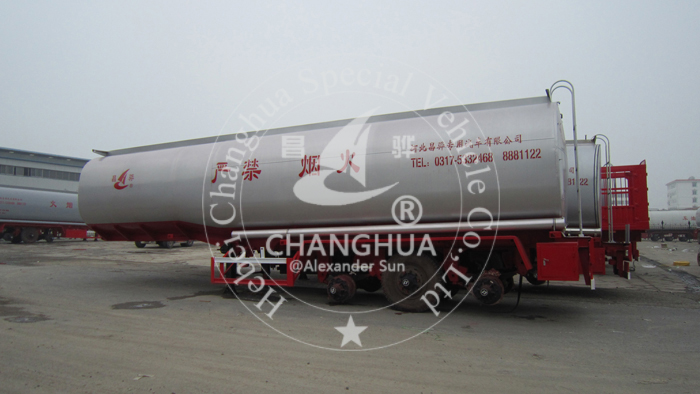 3 Axles Steel Oil Fuel Tanker Semi Trailer Tank Truck