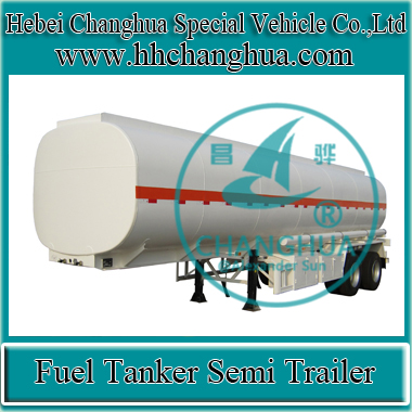 3 Axles Mobile Oil Tank Trailer Diesel Fuel Semi Trailer Tanker