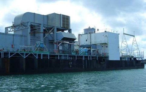 47 MW Gas Turbine Power Barge