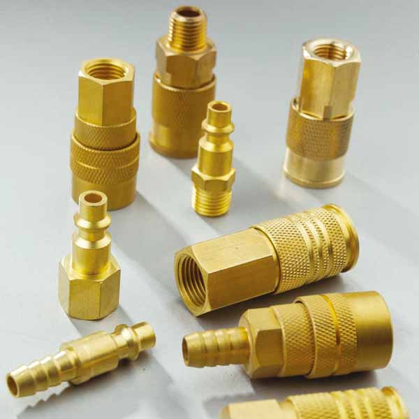 Brass metal  Quick Connector Fittings With Two Touch Connector