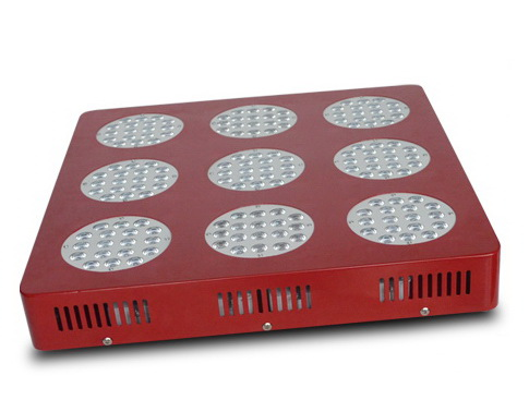 50000H, high efficiency, 410W,11350LM,90degree,162pcs LED, square LED grow light fixture