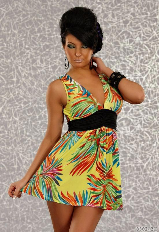 Deep Neck Wholesale Fashion Clubwear
