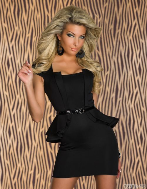 Peplum Dress Cap Sleeve