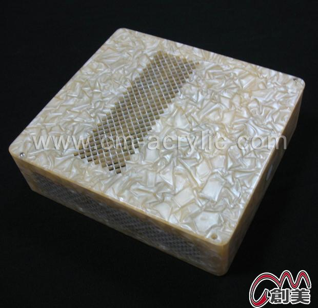Gray marble color acrylic computer boxes/cases