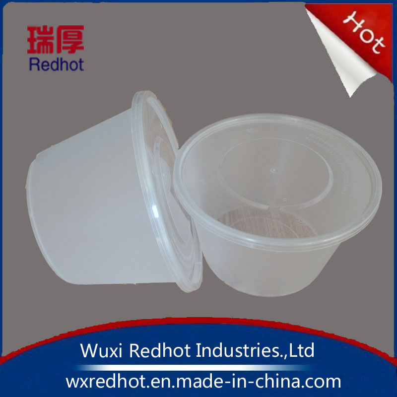 White Color Plastic Round Deli Food Containers