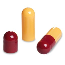 Empty Gelatin Capsules Dark Red & Orange Size 00